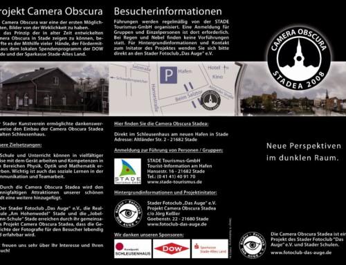 Aktueller Flyer zur Camera Obscura Stadea